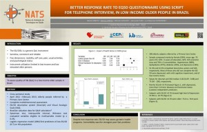 Better response rate to EQ-5D questionnaire using script for telephone interview, in low income older people in Brazil-  ISOQOL 20th  Annual Conference